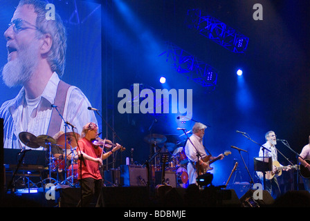 Yusuf Islam Cat Stevens performing at the Fairport Cropredy Convention music festival 2009 This was the first music - Stock Photo