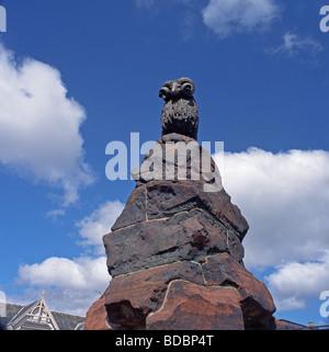Colvin Fountain Moffat Ram Statue, Moffat, Dumfries and Galloway, Scotland - Stock Photo