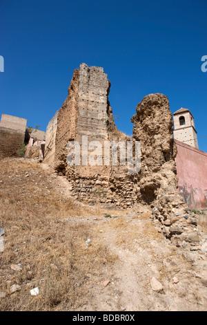 Ruins Castillo Arabe. Alora. Malaga. Valle del Sol. Andalucia. Spain. Europe - Stock Photo