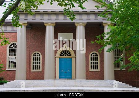 Memorial Church Harvard University Boston Massachusetts - Stock Photo