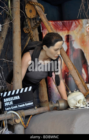 Wax Model outside the Movieland Wax Museum on Clifton Hill, Niagara, Ontario - Stock Photo