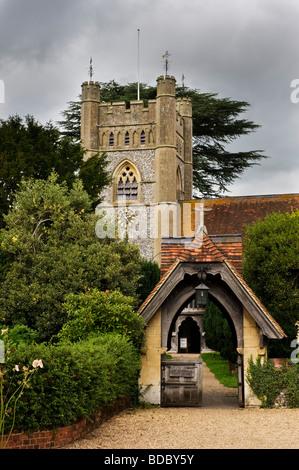 St Mary the Virgin Hambleden village parish church Buckinghamshire UK - Stock Photo