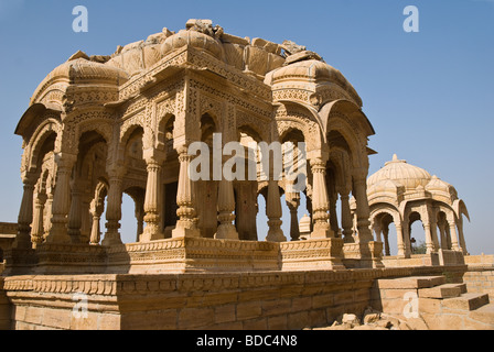 A cenotaph at Bada Bagh, Jaisalmer, Rajasthan, India - Stock Photo