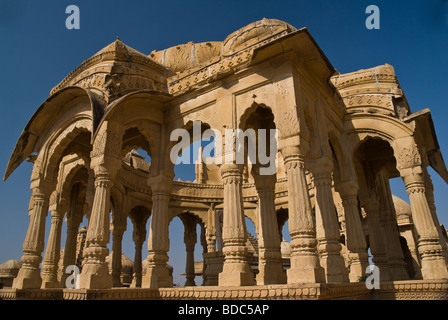 A cenotaph at Bada Bagh, Jaisalmer, Rajasthan, India - Stock Photo