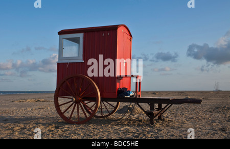 Cart at the Northsea in Borkum - Stock Photo