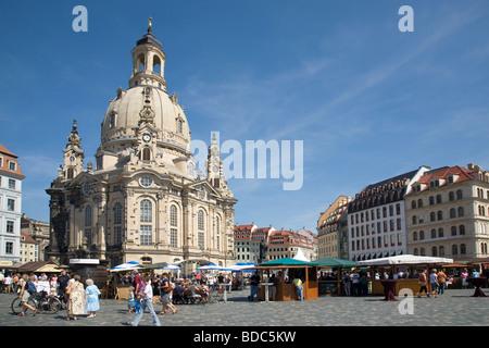 Frauenkirche, Dresden, Saxony, Germany - Stock Photo