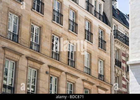 Old historic homes in Paris France - Stock Photo