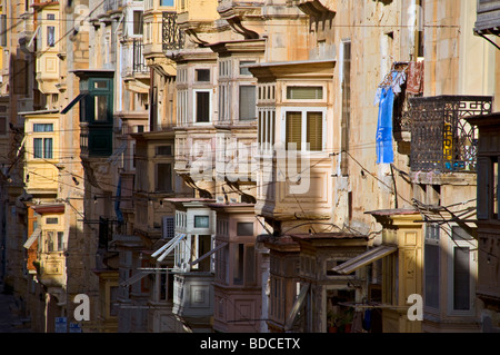 Traditional maltese balconies in the old town of valletta for Traditional balconies