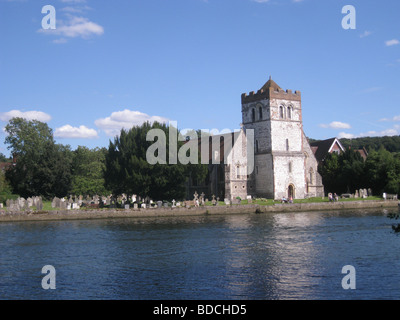 ALL SAINTS CHURCH, Bisham, beside the Thames near Henley-on-Thames, England - Stock Photo