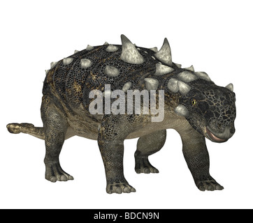 dinosaur euoplocephalus - Stock Photo