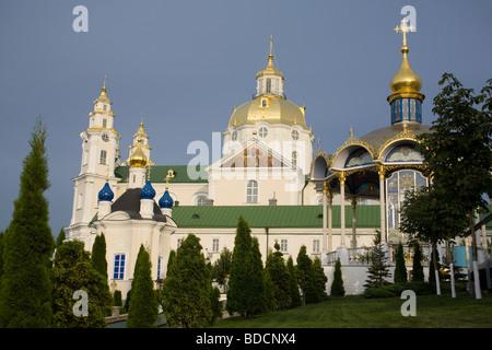 Holy Dormition Pochayiv Lavra, Pochayiv, Ternopil Oblast, Ukraine. - Stock Photo