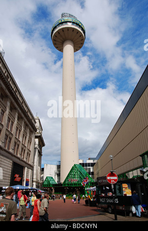 the ' radio city ' tower at st.johns market in liverpool, uk - Stock Photo