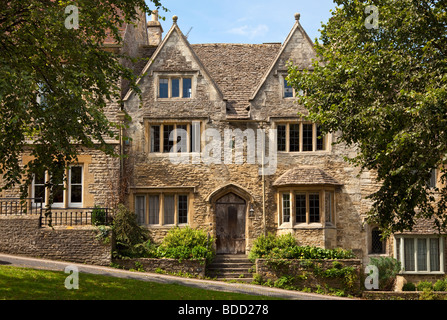 Typical old Cotswold stone house in Burford Oxfordshire England UK - Stock Photo