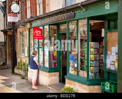 Newsagents shop in the Cotswolds town of Burford, Oxfordshire, England, UK - Stock Photo