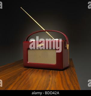 Classic Leather Roberts Radio - Stock Photo