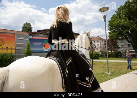 Saeta Equina 2009 horse show in Ljubljana, Slovenia. Held in the Gospodarsko Raztavisce exhibition centre on Dunajska - Stock Photo