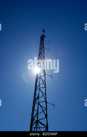 A communications mast at Hartland Point, Devon, England, United Kingdom - Stock Photo