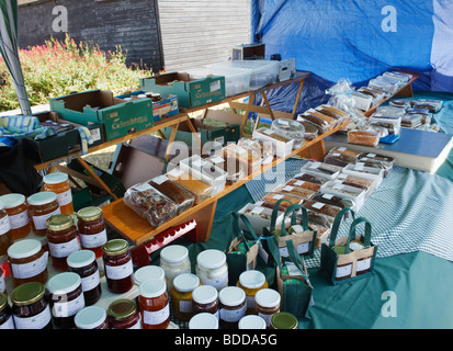 Display of homemade products at village fete. - Stock Photo