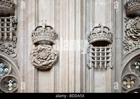 Detail Images of Trinity College Chapel, Cambridge, UK - Stock Photo