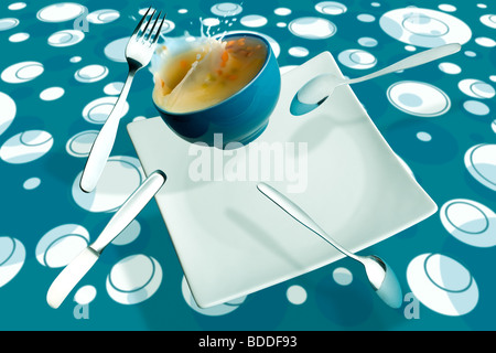 Psychedelic meal - Stock Photo