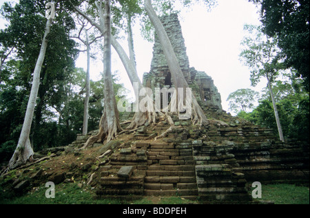 Preah Palilay temple, Angkor, Cambodia. - Stock Photo