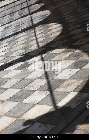 The shadow of the arches of the Loggia di San Giovanni in Udine, Friuli Venezia Giulia, Italy - Stock Photo