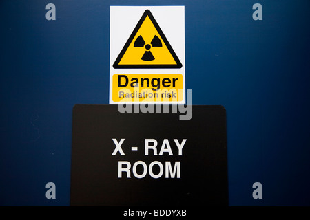 Warning Sign on the Door of Radiography Room - Stock Photo