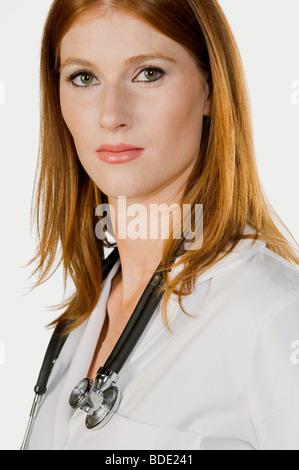 Portrait of doctor / nurse. - Stock Photo