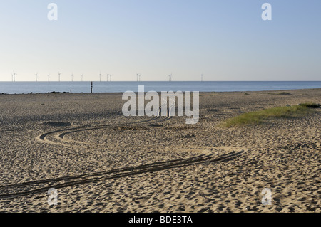 Norfolk beach at Caister-on-Sea by the North Sea, UK. - Stock Photo