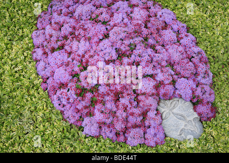 grave at German Federal Horticultural Show 2009 in Schwerin - Stock Photo