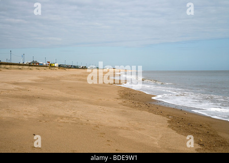 Sutton on sea on the Lincolnshire coast - Stock Photo