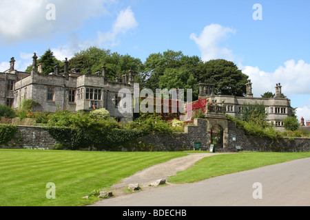 Tissington Hall, Tissington, Peak District National Park,  Derbyshire, England, U.K. - Stock Photo