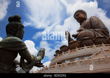 Giant Buddha, Po Lin Monastery, Hong Kong, China. - Stock Photo