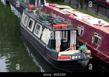 Canal boat Little Venice London England UK - Stock Photo