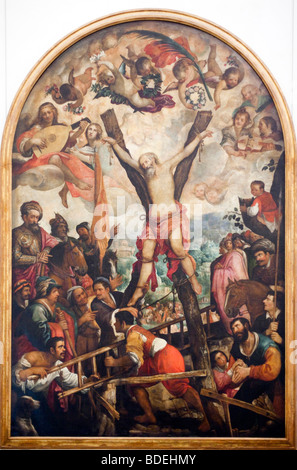 Martyrdom of St Andrew (circa 1610), by Juan de Roelas, Fine Arts Museum, Seville, Spain - Stock Photo