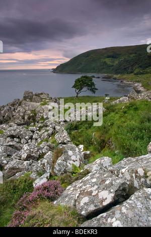 Murlough Bay at dusk, Co Antrim, Northern Ireland. - Stock Photo