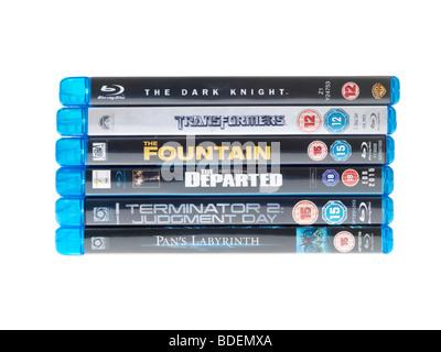 Blu Ray Discs - Stock Photo