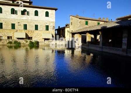 The ancient baths of Bagno Vignoni - Stock Photo