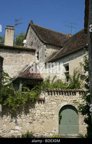 Medieval Bastide of Issigeac, Perigord Pourpre - Stock Photo