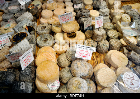 Paris, France, Food Shopping, Different Variety of 'French Cheeses' in 'Store Window', 'La Fromagerie', Creameries - Stock Photo