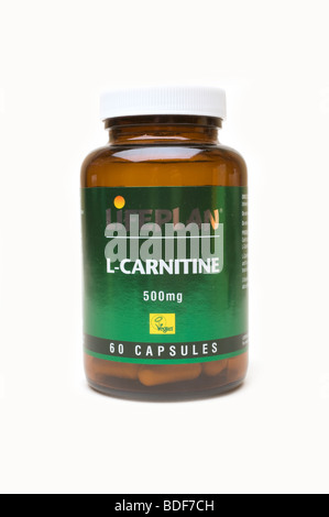 Carnitine heath supplement Tablets - Stock Photo