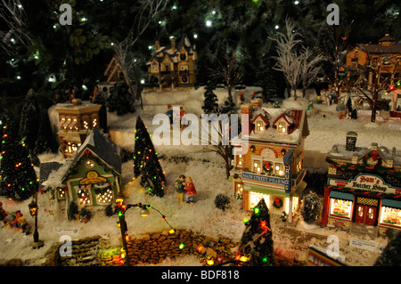 miniature christmas village toy houses decorations stock photo - Christmas Town Decorations