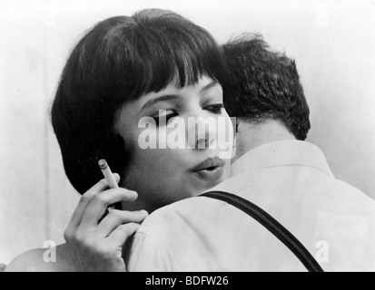 IT'S MY LIFE  - 1962 Pathe film with Anna Karina and directed by Jean-Luc Goddard - original title Vivre sa vie - Stock Photo