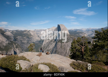 Halfdome, Glacier Point, Yosemite National Park, USA - Stock Photo