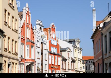 Altstadt von Wismar Mecklenburg Vorpommern Deutschland Old town of Wismar Mecklenburg Western Pomerania Germany - Stock Photo