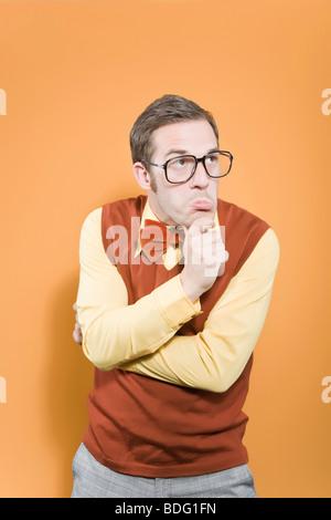 Nerd, looking - Stock Photo