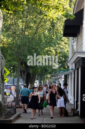 Main Street, East Hampton, New York - Stock Photo