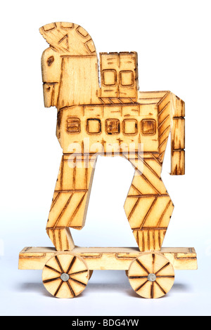 Souvenir model of the Trojan Horse - Stock Photo