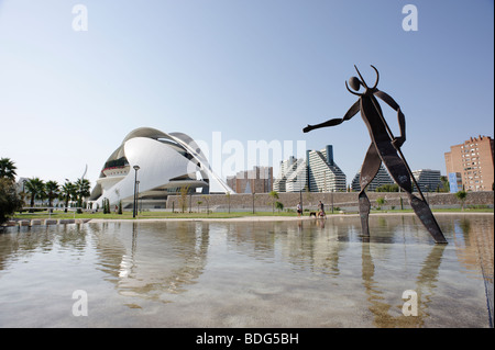 Valencia Opera House El Palau de les Arts Reina Sofia in the Turia park. Valencia Spain - Stock Photo