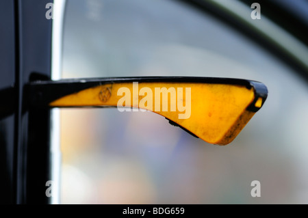 Direction indicator of an old VW Beetle, Germany - Stock Photo